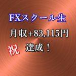 スクール生の山田さん(50代、会社員)が月収+83,115円を達成!「安定収入への道が開けてきた気がした」
