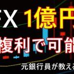 FX複利運用で1億円を稼ぐ方法と危険性とは?【元銀行員が解説】